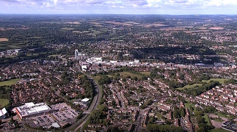 Good growth: Aerial view of Hemel Hempstead