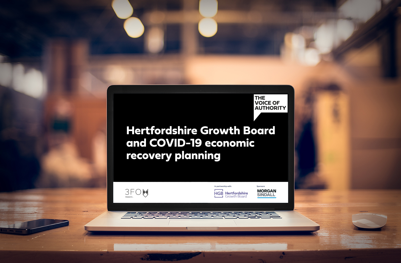 Hertfordshire Growth Board and COVID-19 economic recovery planning August 13, 2020, 11:00am – 12:00pm